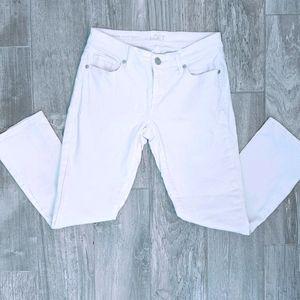 Ann Taylor Loft Modern Kick Crop Jeans White 25/0